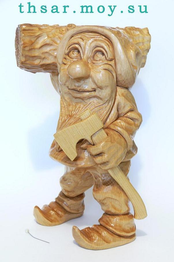 Как самому из дерева статуэтку сделать